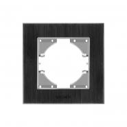 Рамка чёрный алюминий одинарная горизонтальная VIDEX BINERA