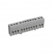 "Шина L ""фаза"" в изолированном корпусе 6х9  10отверстий на DIN-рейку ШНИ-6х9-10-К-Ср ИЕК"