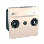 Розетка телевизионная R-ТV/SAT концевая слоновая кость Unika