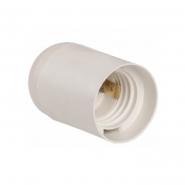 Патрон подвесной пластик Е27 белый индивид. пакет