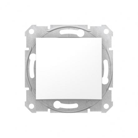 Выключатель одноклавишный белый - 1