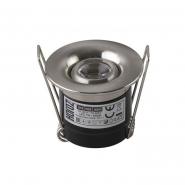 Светильник вcтраеваемый HOROZ Power Led 1W мат.хром 4200K d-41мм 70Lm 016-039-0001-060