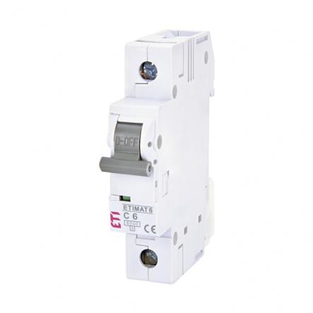 Автоматический выключатель ETI С 6A 1p 6кА 2141512 - 1