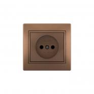 Розетка 1-я  б/заз. светло-коричневый перламутр с/вст. MIRA