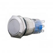 Кнопка металлическая плоская  с фиксацией 1NO+1NC TYJ 19-311  АСКО-УКРЕМ