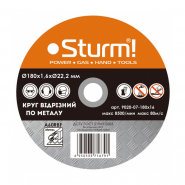 Круг отрезной по металу 180*1,6*22 А40 STURM (vitals)