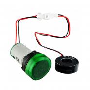 Амперметр цифровой ED16-22AD 0-100A (зелёный) врезной монтаж