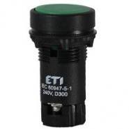 Кнопка утопленная зеленая с НО+НЗ контактом TN12C2 ETIMAT