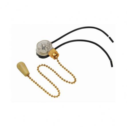 Выключатель на бра длинный шнурок золото - 1
