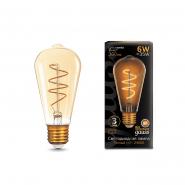 Лампа Gauss LED Filament ST64 Flexible E27 6W Golden 2400K