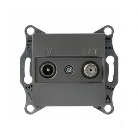 Розетка TV-SAT оконечная без рамки сталь Asfora, Schneider Electric EPH3400162 - 1