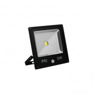 Прожектор с датчиком 1LED/50W белый 6400K(+датчик) 230V (126*118*50mm) Черный   IP 65