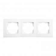 Рамка тройная горизонтальная белый LINNERA VIKO