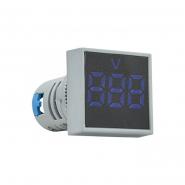 Вольтметр квадратный  ED16-22FVD 30-500В АС (синий) врезной монтаж