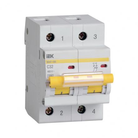 Автоматический выключатель IEK ВА47-100 2p 32A С - 1