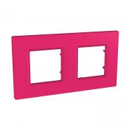 Рамка 2 мод Pink UNIKA QUADRO розовый