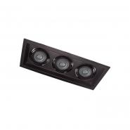 Светильник точечный Feron DLT203 3xMR16/G5.3 черный поворотный