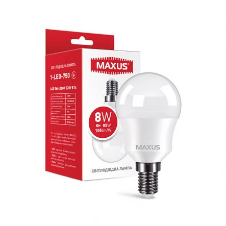 Лампа MAXUS 1-LED-750 G45 8W 4100K 220V E14 - 1