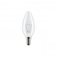 Лампа свеча 40С1/CL/E14 GE прозрачная