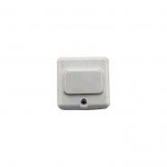 Кнопка звонка белая с подсветкой (Диод)