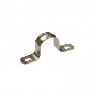 Скоба металл.двухлапковая  d21-22мм