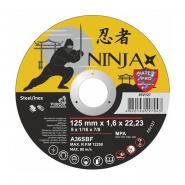 "Круг отрезной по мет. NINJA TM ""VIROK""; d=125х22.23 мм t=1,6 мм"
