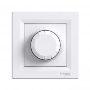 Светорегулятор поворотный  белый ASFORA