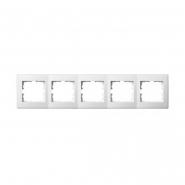 Рамка пятиместная Lezard Lesya горизонтальная белый 705-0200-150