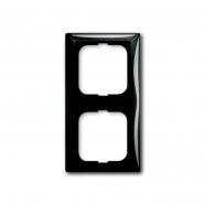 Рамка двойная Basic 55 чёрный шато ABB