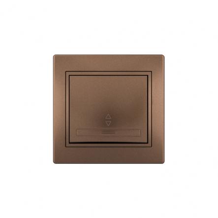 Выключатель проходной светло-коричневый перламутровый Lezard серия MIRA - 1