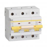 Автоматический выключатель IEK ВА47-100 3p 100A D