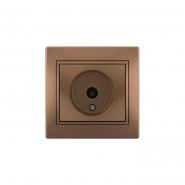 Розетка ТВ концевая светло-коричневый перламутр с/вст. MIRA