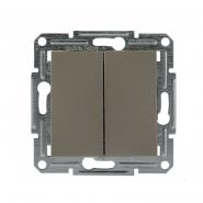 Переключатель 2-кл. самозаж. бронза Schneider Electric ASFORA