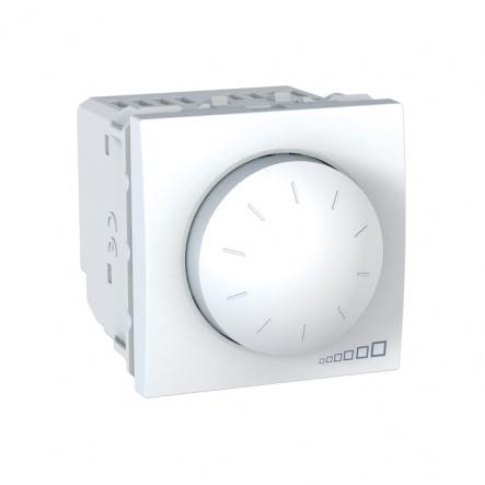 Светорегулятор поворотно-нажимной белый - 1