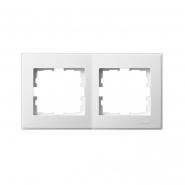 Рамка двухместная Lezard Lesya горизонтальная белый 705-0200-147