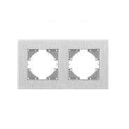 Рамка на 2 места горизонтальная VIDEX Binera Серебристый алюминий (VF-BNFRA2H-SL)
