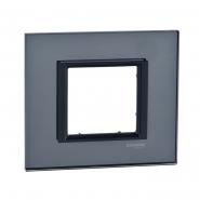 Рамка  Unica Class 1-я черн. стекло