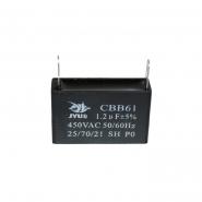 Конденсатор для запуска CBB-61 1,2мкФ 450В VAC 37x11x22 на клеммах