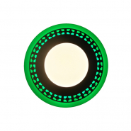 """Панель LED Lemanso""""Грек"""" 12+6W с зелёной подсветкой 1080Lm 4500K 195*30mm 175-265V / LM543 круг"""