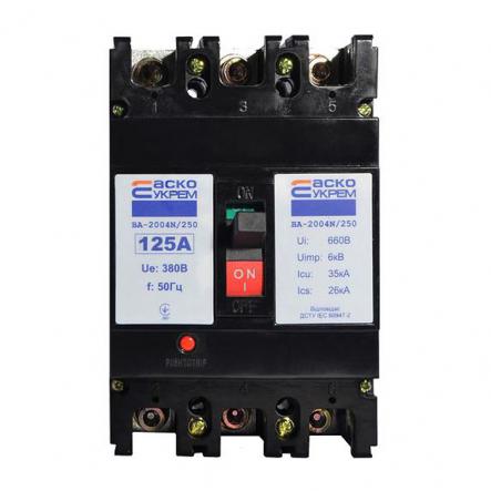 Автоматический выключатель ВА-2004N/250 3р 125А АСКО - 1