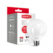 Лампа LED G95 12W 4100K E27 220V шар матовый Maxus