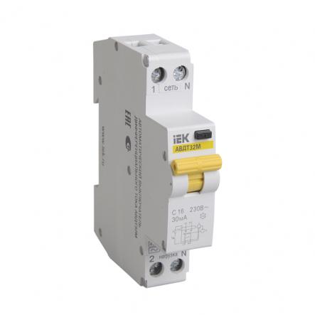 Дифференциальный автоматический выключатель IEK АВДТ-32М С 16А 10мА - 1