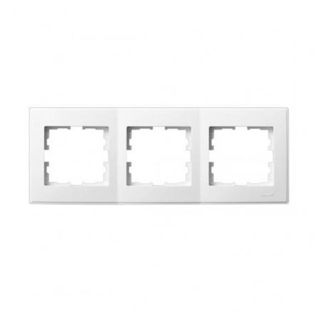 Рамка трехместная Lezard Lesya горизонтальная белый 705-0200-148 - 1