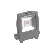 Прожектор светодиодный квадрат 1LED/10W-белый 230V серый (IP65)145*170*55 мм