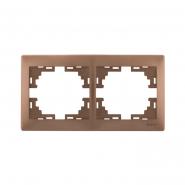 Рамка 2-я гор. светло-коричневый перламутр MIRA