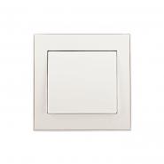 Выключатель одноклавишный жемчужно-белый перламутр Lezard серия RAIN