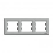 Рамка 3-я горизонтальная Asfora алюминий