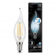 Лампа Gauss LED Filament Свеча на ветру E14 7W 580lm 4100K step dimmable