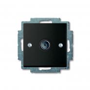 Розетка TV Basic55 чорний шато