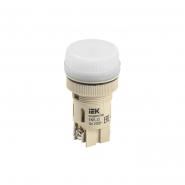 Светосигнальный индикатор IEK ENR-22 d22мм белая неон 240В цил.